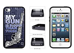 Blue Country and Girl human My Gun Is Bigger Than Yours TPU RUBBER Phone Case Back Cover Apple and iPhone 4 4s who Kimberly Kurzendoerfer