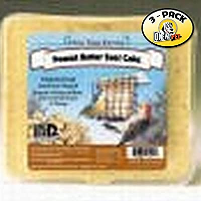 Pine Tree Farm Peanut Butter Wild Bird Suet Cake, 3-Pound (Pack of 3)