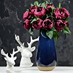Rinlong-2pcs-Burgundy-Artificial-Peonies-Vintage-Silk-Peony-Wedding-Flowers-Stems-for-DIY-Floral-Arrangements-Home-Decor-Bridal-Bouquet