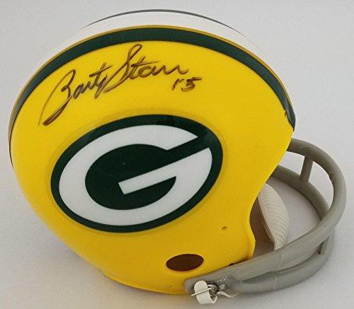 Bart Starr Signed Mini Helmet - #0102251 - Tristar Productions Certified - Autographed NFL Mini Helmets