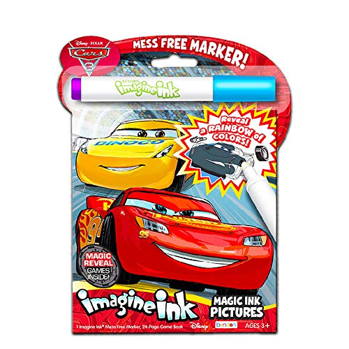 Disney Cars Imagine Ink Coloring Book Set for Toddlers Kids -- Mess-Free  Coloring Book with Magic Invisible Ink Pen and Over 100 Disney Cars  Stickers