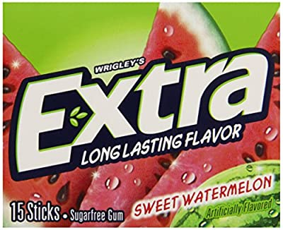 Wrigleys Extra Watermelon, 15-Count (Pack of 10)