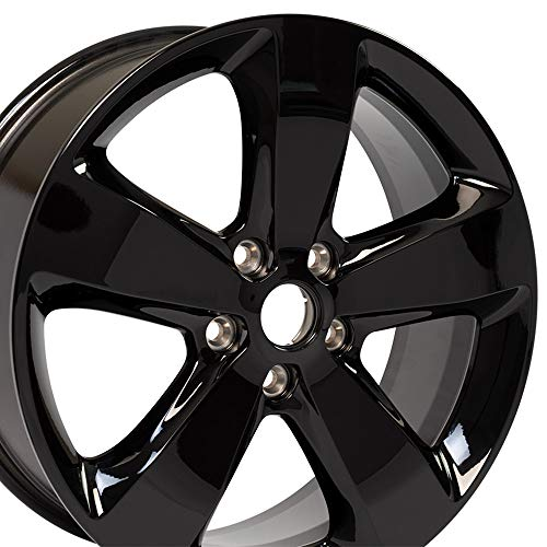 OE Wheels 20 Inch Fits Dodge Durango Jeep Grand Cherokee Altitude JP19 Gloss Black OEM 20x8 Rim Hollander - Jeep Rims Oem