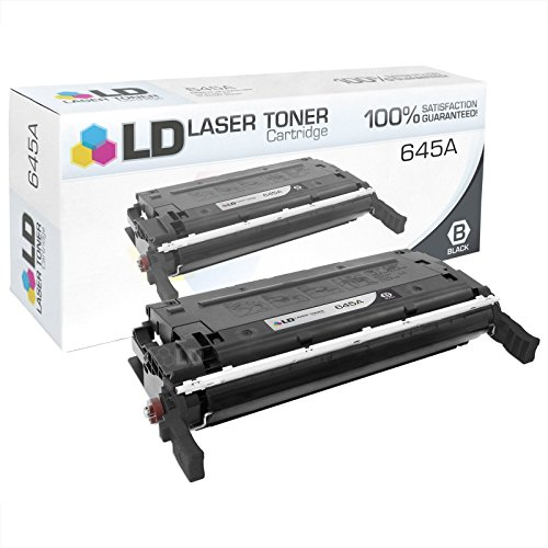 LD Remanufactured Replacement Laser Toner Cartridge for Hewlett Packard C9730A (HP 645A) Black for the Color LaserJet 5500n, 5550hdn, 5500dtn, 5500, 5550dtn, 5500dn, 5550n, 5550, 5550dn, 5500hdn (Printer Laser 5500n)