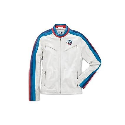 Amazon.com: BMW Motorsport Heritage Leather Jacket - Unisex ...