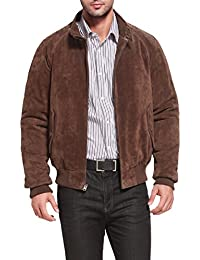 Men's WWII Suede Leather Bomber Jacket (Regular & Tall)