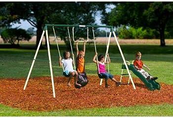 Flexible Flyer Outside Fun II Metal Swing Set