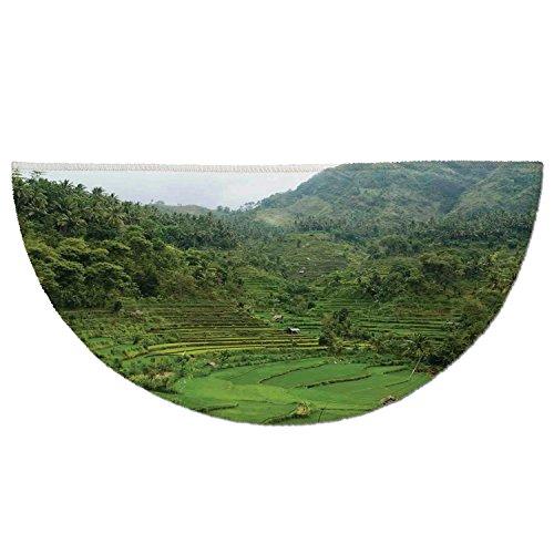 Cheap  Half Round Door Mat Entrance Rug Floor Mats,Balinese Decor,Picture of Terraced Rice..