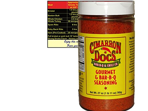 Price comparison product image Cimarron Docs Gourmet and Bar-B-Q Seasoning 1 Pound 11 oz Bottle with Complimentary Miniature Meat Smoking Guide Magnet Bundle