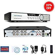HISVISION 8CH 1080N AHD DVR 5-in-1 Hybrid (1080P NVR+1080NAHD+960HAnalog+TVI+CVI) CCTV 8-channel HDMI QR Code Scan Easy Remote View Email Alerts Home Security Surveillance Camera System(No HDD)
