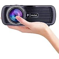Roadwi Movie Projector Mini Portable ProjectorSupport 1080P HDMI AV VGA USB SD TV