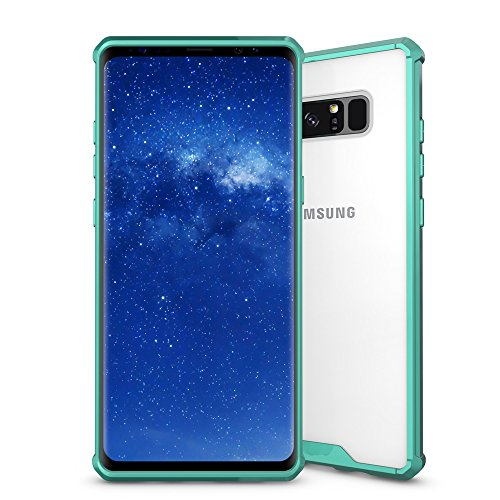 Galaxy Note 8 Case, Arukas Extreme Lightweight [Crystal Clear] Slim Protective Scratch Resistant Shock-Absorption Bumper Soft TPU Protective Case Cover for Samsung Galaxy Note 8 2017 Release (green)