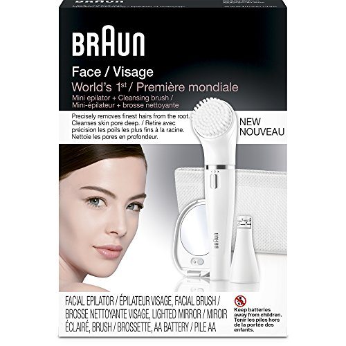 Braun Face 830 Women's Miniature Epilator, Electric Hair Removal, with Facial Cleansing Brush for Women (Beauty Edition) by Braun (Image #4)