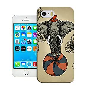 Yishucase-An strong elephant palying basketball happy time durable top Hard Cover for iPhone6 case inches case