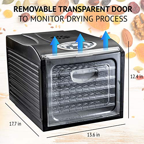 Ivation 6 Tray Electric Food Dehydrator 480w Drying Jerky, Nuts