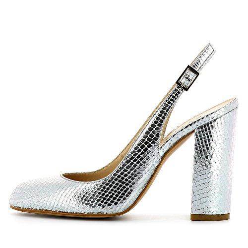 Evita Shoes Ilenea - Zapatos de vestir de Piel para mujer plata