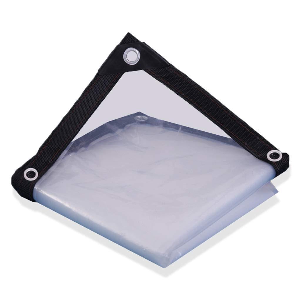 3x6m WQQTT-Tarpaulin Tissu imperméable épaissi BÂche épaisse imperméable, Film Plastique Transparent Blanc, bÂche isolée par Effet de Serre Tissu imperméable épaissi (Taille   4x7m)