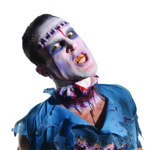 Thriller Costumes Zombies (Rubie's Costume Zombie Shop Severed Prosthetic Head, Red And Silver, One Size)