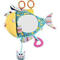 KAKIBLIN Fish Shaped Floor Mirror Hanging Educational Crib Toy