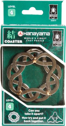 - COASTER Hanayama Cast Metal Brain Teaser Puzzle (Level 4)