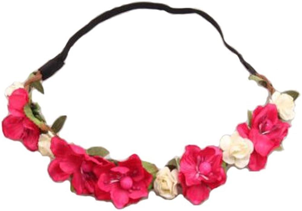 WTB Fleur des filles Fleur Garland Bohemian Braided Festival de plage d/ét/é Bandeaux de courroie de cheveux de mariage