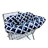 Itzy Ritzy GC8058 Shopping Cart and High Chair Cover (Social Circle Blue)