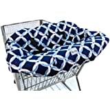 Itzy Ritzy Shopping Cart and High Chair Cover, Social Circle Blue