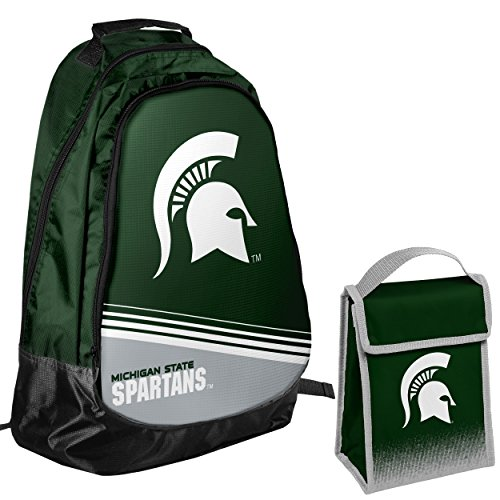 Official Logo Ncaa Backpack - Michigan State Spartans Official NCAA One Size Backpack Core Bag Insulated Lunch Box Cooler