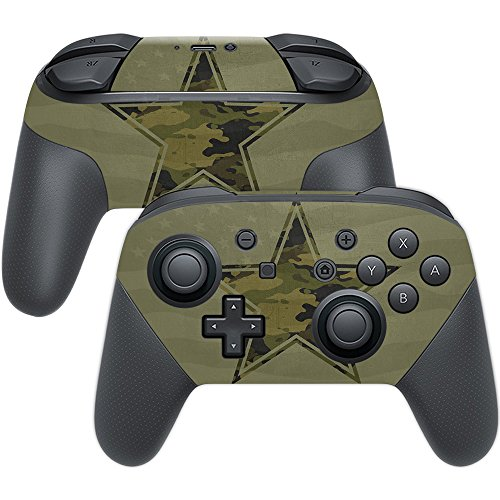 MightySkins Skin Compatible with Nintendo Switch Pro Controller - Army Star | Protective, Durable, and Unique Vinyl Decal wrap Cover | Easy to Apply, Remove, and Change Styles | Made in The USA