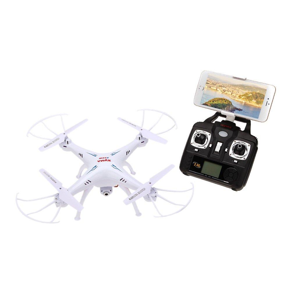 Desconocido Syma X5SW 4 CH 2,4 G 6 Ejes Gyro RC WiFi FPV Quadcopter con Cámara HD DE 2,0 MP