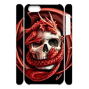 VNCASE Red Dragon Phone Case For Iphone 4/4s [Pattern-1]