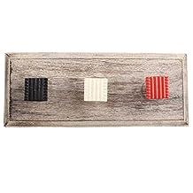 Red Hammered Square Metal Wooden Wall Coat Hooks Coat Key Cloth Hanging Hanger WHK-1136-MK-149