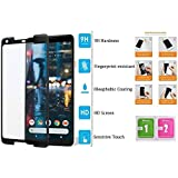 Divud Ecom Tempered Glass for Google Pixel 2XL Full Screen Protector - Black 3D Curved & Edge to Edge