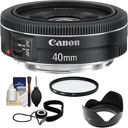 Canon Ef 40 Mm F 2 8 Stm Pancake Objektiv Mit Uv Filter Kamera