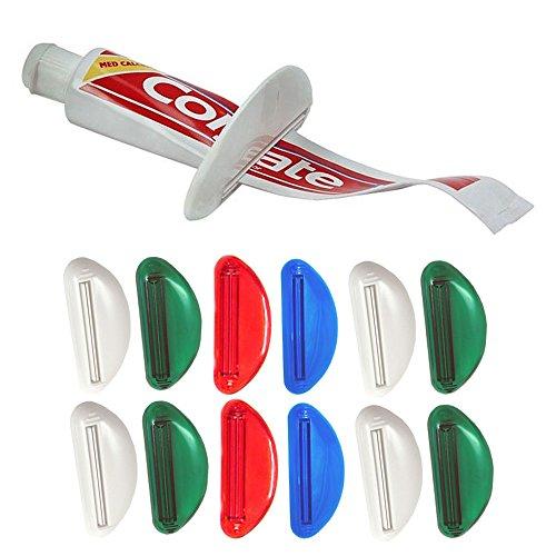 12 x Lot Toothpaste Tube Squeezer Easy Plastic Dispenser Rolling Holder Bathroom