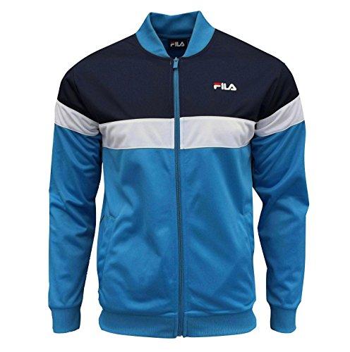 Fila Men's Lecce Retro Track Top Tracksuit Jacket Peacoat (Retro Suits For Mens)