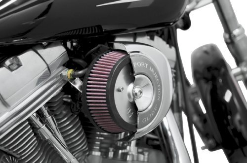 2012 Harley Davidson FLD Switchback Big Sucker Stage I Air Filter Kit for OEM Cover - Chrome Backing Plate - Red Filter, Manufacturer: Arlen Ness, BIG SUCKER,STK CVR,CHR
