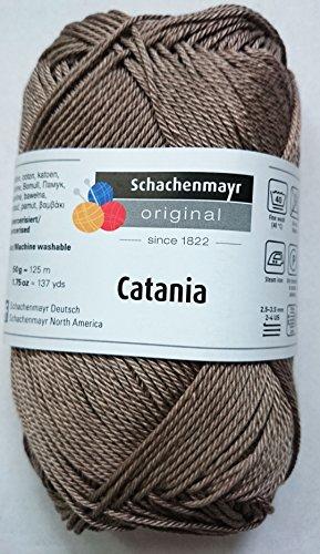 Schachenmayr Catania Strickgarn 50 Gramm Uni (Taupe Braun/Grau (254))