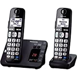 Panasonic KX-TGE232B Cordless Phone, 2 Handsets (Office Product)