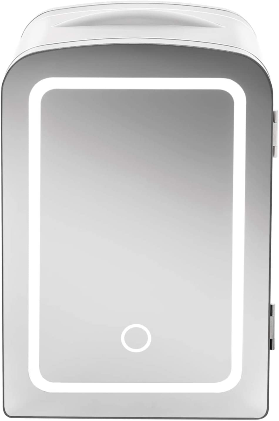 Chefman Portable Mirrored Beauty Fridge With LED Lighting, 4 Liter Mini Refrigerator