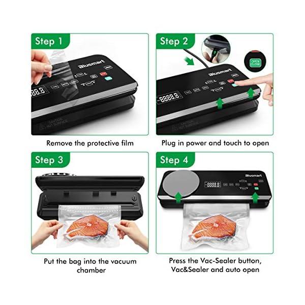 Macchina Sottovuoto per Alimenti Automatica Blusmart 80Kpa Macchina Sigillatrici con bilance da cucina integrate e… 3
