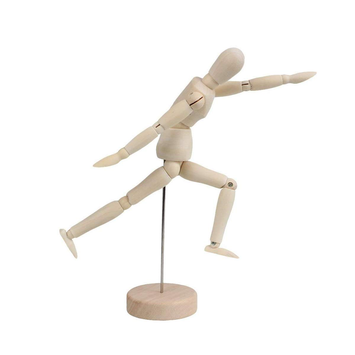 Wooden Left Hand 8 Figure Mannequin Durable /& Flexible for Drawing Arts and Perfect Home Decoration