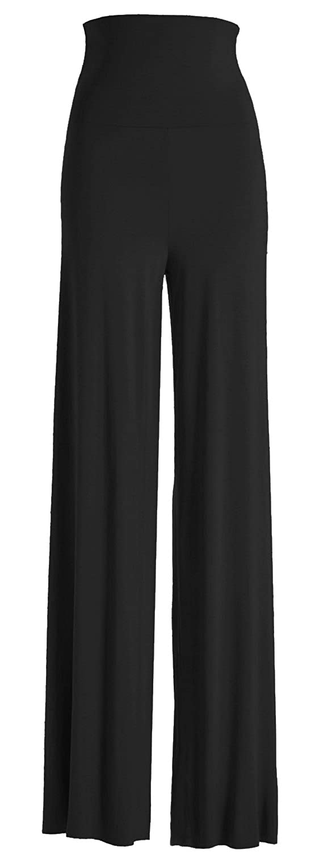 VIV Collection Women's RAYON MODAL Solid Wide Leg Palazzo Pants