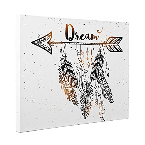 Dream Arrow And Feathers CANVAS Wall Art Home Décor by Paper Blast