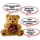 #7: Farting Teddy Bear - Hug It's Heart To Hear It Fart   Soft Plush 11