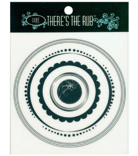 Luxe Designs Rub-Ons - Circle Frames/Black