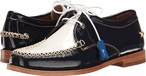 G.H. Bass & Co. Women's Winnie Oxford, Navy/White, 6 M US