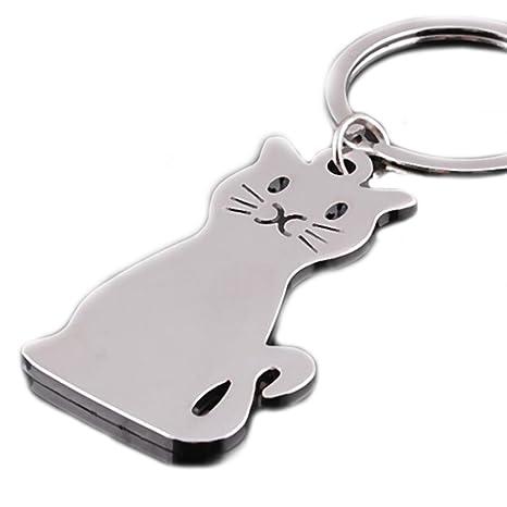 Gato de Mascotas Regalo Creativo Anillo Llavero para Las ...