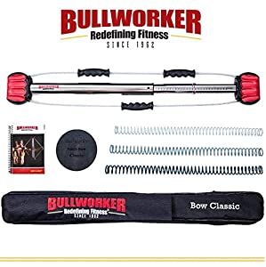 "Bullworker 36"" Bow Classic -Full Body Workout- Portable Home Gym Isometric Exercise Equipment for Fast Strength Training Gains. Cross Training Fitness; Chest, Back, Arms, and Abs Exercise Machine"