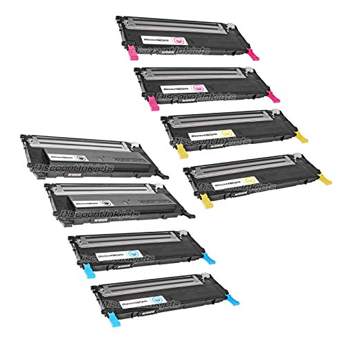 JS 8 Pack Set CLT-K407S Black & Color Printer Toner Cartridge for Samsung CLP-325W (Samsung Clp 325w Toner compare prices)
